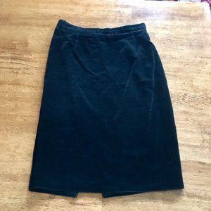 Dresses & Skirts - Vintage Black Velvet Pencil Skirt 28